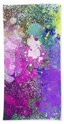 Splattered Colors Abstract Beach Towel