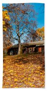 Splendor Of Autumn. Wooden House Beach Towel