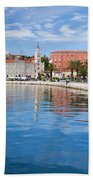 Split Bay In Croatia Beach Towel