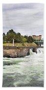 Spokane Falls From The Lincoln Street Bridge Beach Towel