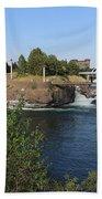 Spokane Falls Hdr Beach Towel by Carol Groenen
