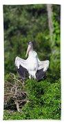 Spread Stork Beach Towel