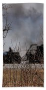 Spring Burning Of The Blueberry Fields Beach Towel
