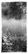 Spring Field Black And White Beach Towel