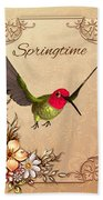 Springtime - Hummingbird Beach Towel