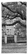 St. Charles Ave. Monochrome Beach Towel