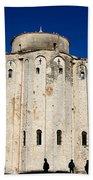 St. Donatus Church In Zadar Beach Sheet