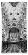 St. Louis Cathedral Monochrome Beach Towel