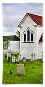 St. Luke's Church In Placentia Newfoundland Beach Towel by Elena Elisseeva