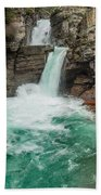 St. Mary Falls In Spring Beach Towel