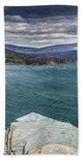 St. Mary Lake Under Stormy Skies Beach Towel