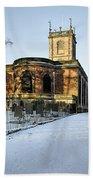 St Modwen's Church - Burton - In The Snow Beach Towel