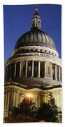 St Pauls Cathedral At Dusk, Exterior Beach Towel