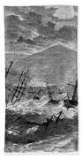 St. Thomas: Hurricane, 1867 Beach Towel