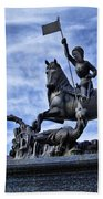 St Vitus Cathedral - St George Statue  Beach Towel