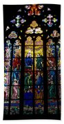 St Vitus Cathedral Stained Glass Beach Towel