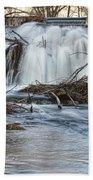 St Vrain River Waterfall Slow Flow Beach Towel
