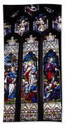 Stained Glass - Bath Abbey Beach Towel