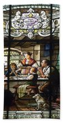 Stained Glass Family Giving Thanks Beach Towel