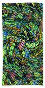 Stained Glass In Abstract Beach Towel