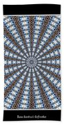 Stained Glass Kaleidoscope 32 Beach Towel