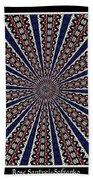 Stained Glass Kaleidoscope 49 Beach Towel