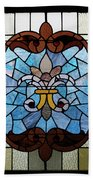 Stained Glass Lc 19 Beach Towel by Thomas Woolworth