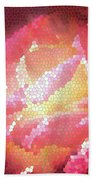 Stained Glass Rose Beach Towel