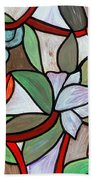 Stained Glass Wild  Flowers Beach Towel