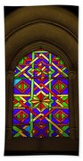 Stained Glass Window In Mezquita Beach Towel