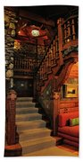 Stairway In Gillette Castle Connecticut Beach Towel
