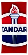 Standard Oil Sign Beach Towel
