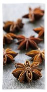 Star Anise Fruit And Seeds Beach Towel
