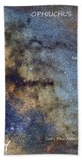 Star Map Version The Milky Way And Constellations Scorpius Sagittarius And The Star Antares Beach Towel