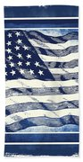 Star Spangled Banner Blue Beach Towel