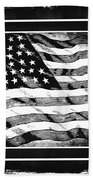Star Spangled Banner Bw Beach Towel