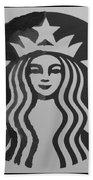 Starbuck The Mermaid In Black And White Beach Towel