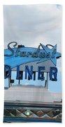 Stardust Diner Beach Towel