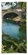 Stari Most Or Old Town Bridge Over The Beach Towel