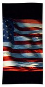 Stars And Stripes At Night Beach Towel