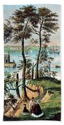 Staten Island And The Narrows, 20th Beach Towel