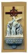 Station Of The Cross 02 Beach Towel