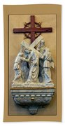 Station Of The Cross 05 Beach Towel