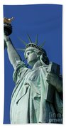 Statue Of Liberty Beach Towel