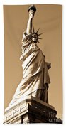 Statue Of Liberty Beach Sheet