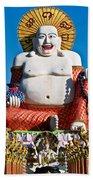 Statue Of Shiva Beach Towel by Adrian Evans