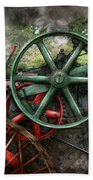 Steampunk - Machine - Transportation Of The Future Beach Towel by Mike Savad