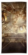 Steampunk - Naval - The Escape Hatch Beach Towel