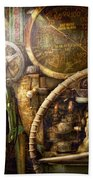 Steampunk - Naval - Watch The Depth Beach Towel