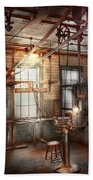 Steampunk - Machinist - The Grinding Station Beach Towel